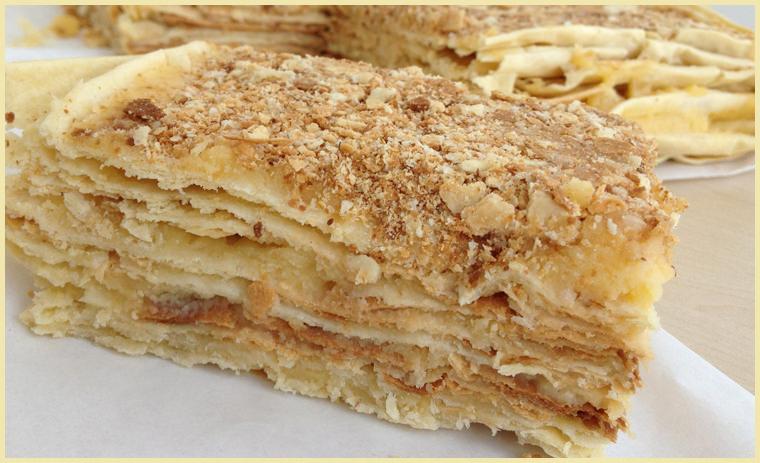 торт наполеон с маслянным