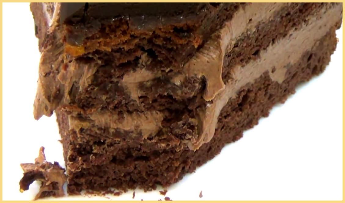 кусок торта Прага