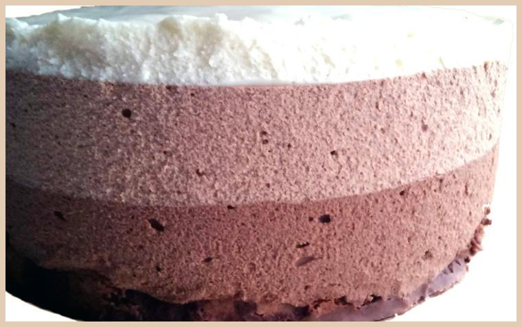 3 шоколада муссовый торт