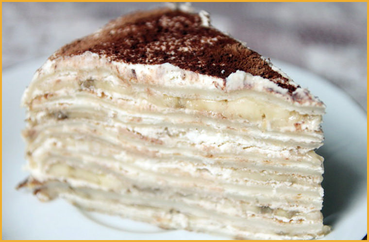 блинный торт с маскапоне