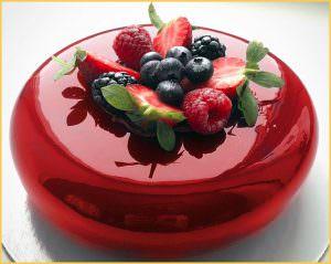 красная глазурь для торта
