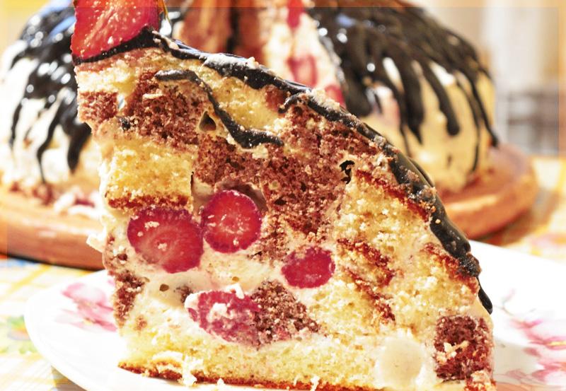 Клубничный торт Панчо