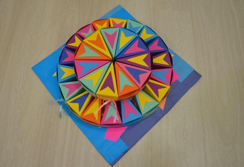 Бумажный торт цирк
